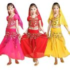 Children Belly Dance Performance Top Skirt Costume Girls Halloween Party Outfit