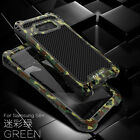 For Samsung Galaxy S9/S10+ Plus R-JUST Shockproof Carbon Fiber Metal Case Cover