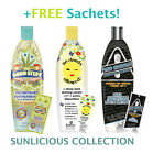 Synergy Tan Sunlicious Collection Sunbed Tanning Lotion Cream Bottles 369ml