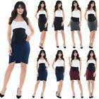 Purpless Maternity Pregnancy Formal Workwear Elasticated Band Tulip Skirt 1512