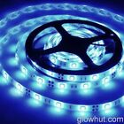 5050 light blue LED strip non-waterproof adhesive back lead AC DC power adapter