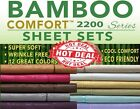BAMBOO COMFORT BED SHEET SET EMBOSSED 4 PIECE - ALL COLORS HERE! image