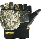 Jacob Ash Hot Shot Women/Men Fingerless Pop-Top Glove Mitten, Thinsulate Camo