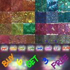 Super Chunky Holo Hexagons 23 Holo colors Fairy Dust Glitter 1 - 5mm Solvent res