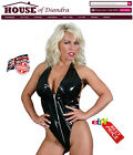 PVC Zip Front PVC Body Clubwear Fetish Cyber Punk Goth Black Red Pink (S1203)