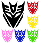 "Transformers Decepticon Vinyl Wall Car Window Bumper Sticker Decal 2.5""-22"" - Time Remaining: 4 days 8 hours 59 minutes 29 seconds"