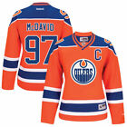 Reebok Connor McDavid Edmonton Oilers Womens Orange Premier Player Jersey
