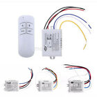 1pcs Wireless 1/2/3 Channel ON/OFF Lamp Remote Control Switch Receiver UK