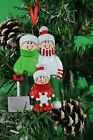 Personalized Christmas Tree Ornament Shovel Family of 2,3,4,5,6