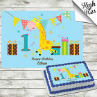 1ST BIRTHDAY RECTANGLE EDIBLE BIRTHDAY CAKE TOPPER DECORATION PERSONALISED