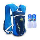 5.5L Sport Running+2pc 250ML Bottles Outdoor Cycling Backpack Hiking Camping
