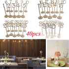 40pcs 1-40 Wooden Table Numbers with Holder Base for Wedding Party Decor USA