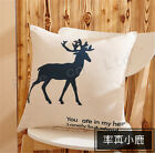 Cartoon New Sofa Office Lunch Back Automobile Waist Pillow Case Cushion Cover