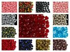 CHOOSE COLOR 50pcs 6mm Heart Beads Czech Pressed Glass