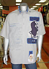 Men's Heather Grey Makaveli Short Sleeve Button Down Shirt