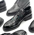 Mens Bling Bling Leather Pointy Toe Brogues Oxfords Dress Oxford Shoes Slip On
