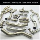 Front Middle Motorcycle Modified Connecting Pipe Link Elbow Tube Whole Set Pipe
