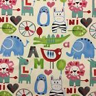 "Prestigious Animals Pink Children Fabirc, 54"" 137cm Wide 100% Cotton"