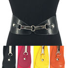 WOMEN Western Fashion Silver Metal Hook WAIST HIP WIDE ELASTIC BELT Stretch Long