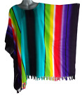 """New Plus Size Loose Fit Tops Top Dress Shirt Tunic Beach Cover Rainbow, Bust 68"""""""