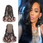 Pre Plucked Long Body Wave Virgin Human Hair 360 Lace Frontal With Wig Cap