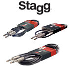 Stagg Instrument Cable, 6mm Male to 6mm Male, ROHS Compliant, 3m/6m Length