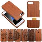 Genuine Wood Bamboo Cover Phone Case For Apple iPhone 7 Plus & Samsung Galaxy S8