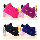Velvet Flannel Cat Cosmetic Makeup Bags Cute Cartoon Storage Pencil Pouch Cases