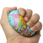 Stress Relief Vent Ball World Map Squeeze Hand Wrist Exercise Geograpy Learning