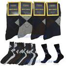 Credos 6~12 Pairs Pack Men's Cotton Crew Dress Socks Fashion Argyle Pattern Lot