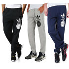 ADIDAS ORIGINALS MENS FLEECE JOGGING BOTTOM TRACK PANT GREY BLUE BLACK