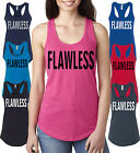 Flawless women's Flowy Athletic Racerback Tank Top Sleeveless Inspired Soft Tee