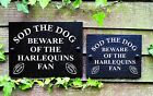 Sod the Dog Beware of the Rugby Union Fan Funny Slate Sign for Gate Door Shed