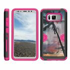 For Samsung Galaxy S8 Active G892 Hybrid Holster Belt Clip Case Stand Armor Pink