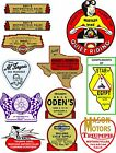 vintage era  OLD SCHOOL MOTORCYCLE DEALERS DECAL $5.0 USD