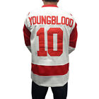 Внешний вид - Dean Youngblood #10 Mustangs Hockey Jersey Costume Movie Uniform Hamilton Young