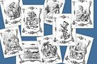 Alice In Wonderland A5 OR A4 size decoupage sheets - furniture children's room