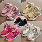 kids gold shoes - Kids Boys Girls LED Shoes Light Up Luminous Children Trainers Sport Sneakers