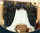 "80"" Luxury Jacquard Chenille Waterfall and Swag ready made Valance curtains"