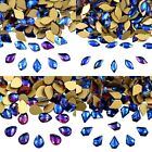 Top Quality Crystal Nail Blue AB Non Hot Fix Rhinestones Flatback Art Decoration