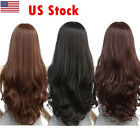 US Women Long Curly Wavy Full Wig Heat Resistant Hair Cosplay Party Lolita New