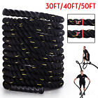 30/40/50FT Battle Rope Strength Training Exercise Fitness Sport Workout Rope