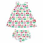Toby Tiger Baby Dress & Pant Set - Cherry Flower