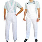 Mens Bib & Brace Working Dungarees Coverall Painters Trousers Pants Overall