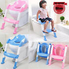 Kid Training Toilet Potty Trainer Seat Chair Toddler With Ladder Step Up Stool