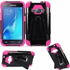 For Samsung Galaxy J1 2016/Amp 2/Express 3 Hybrid Armor Shockproof Stand Case