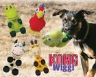 Kong Wiggi - Fun Dog Puppy Textured Fetch Toy - Natural Rubber - Loud Squeaker!