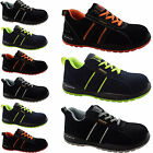 MENS ULTRA LIGHTWEIGHT STEEL TOE CAP SAFETY WORK TRAINERS SUEDE LEATHER