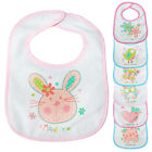 7 Pack Baby Girls Bibs Days of The Week Cute Animals Waterproof in Pink/Blue