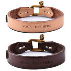leather engraved bracelets - Private Personalized Leather Bracelets Cuff Present - Free Custom Engraving Gift